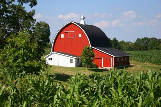 Istockphoto image of a farm, barn