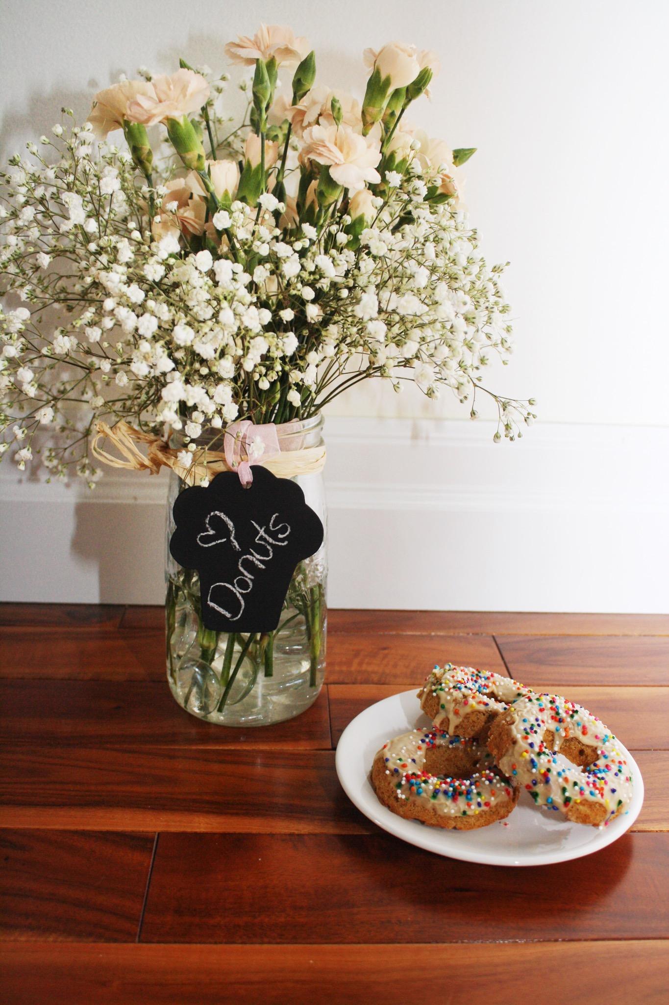 Vanilla Dream Donuts   Vegan (Dairy Free, Egg Free), Gluten Free, Oil Free, Refined Sugar Free